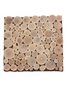 Estera de disco de madera para la decoración otoñal de escaparates y espacios