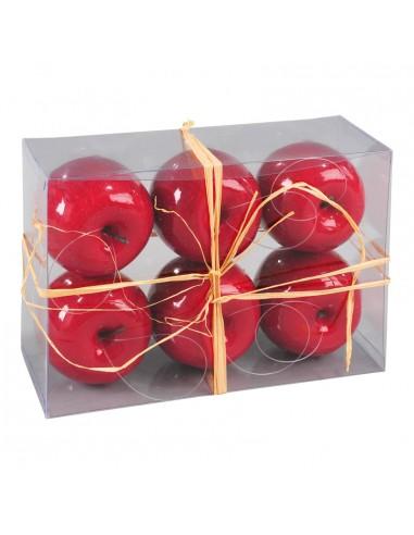 Manzanas decorativas para la decoración otoñal de escaparates y espacios