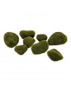 Piedras de musgo para la decoración otoñal de escaparates y espacios