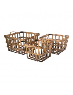 Canasta de bambú para la decoración de la vendimia en licorerías catas bodegas de vino