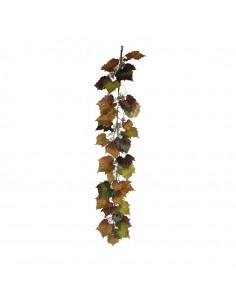 Guirlanda  de hojas de vi para la decoración de la vendimia en licorerías catas bodegas de vino