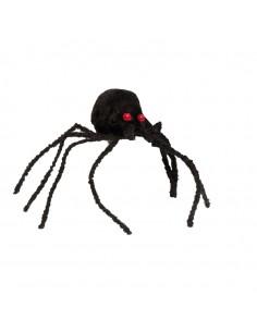 Araña decorativa para Halloween en escaparates de tiendas