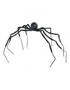 Araña gigante para Halloween en escaparates de tiendas