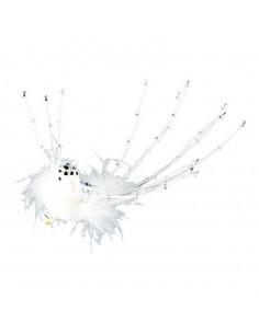 Pájaro con clip para decoración de escaparates en invierno