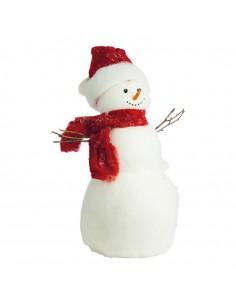 Muñeco de nieve para decoración de escaparates en invierno