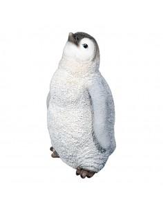 Polluelo pingüino decoratio Para decorar centros comerciales y escaparates en invierno