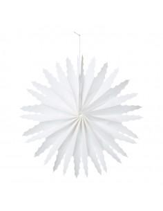 Copo de nieve de papel Para escaparates de invierno en tiendas y centros comerciales
