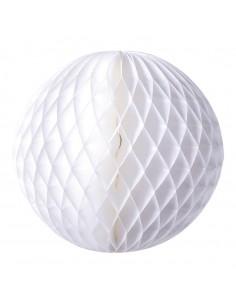 Esfera de papel de nido de abeja para la decoración navideña de centros comerciales calles tiendas