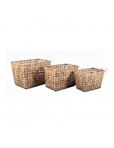 Canasta de bambú para la decoración de árboles de navidad