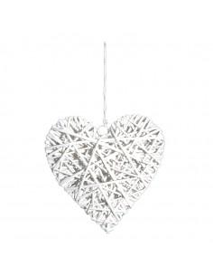 Corazón trenzado para la decoración navideña de centros comerciales calles tiendas