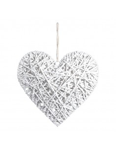 Corazón de mimbre para la decoración navideña de centros comerciales calles tiendas