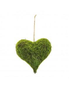 Corazón de hierba decorativa para la decoración navideña de centros comerciales calles tiendas