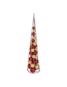 Árbol de alambre 3D para la decoración de navidad con bolas y accesorios