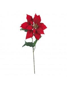 Flor de pascua con tallo laro para la decoración de centros comerciales calles y tiendas