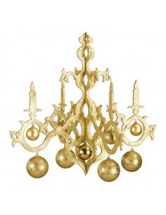 Lámpara de araña con bolas decorativa para la decoración navideña de centros comerciales calles tiendas