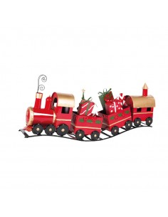 Tren de chapa decorativo para la decoración navideña de centros comerciales calles tiendas