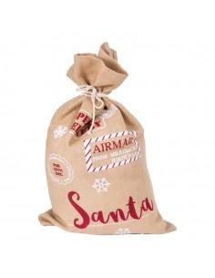 Saco de arpillera para la decoración navideña de centros comerciales calles tiendas