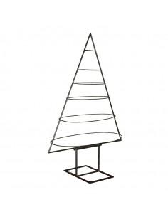 Silueta con formas ovaladas de árbol de navidad para la decoración de navidad con bolas y accesorios