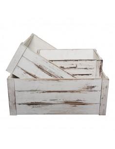 Caja de madera para la decoración de árboles de navidad