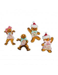 Figuras de pan de jengibre para la decoración navideña de centros comerciales calles tiendas