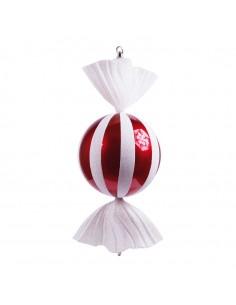Caramelo decorativo en forma de circulo para la decoración navideña de centros comerciales calles tiendas