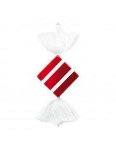 Caramelo decorativo en forma de cuadrado para la decoración navideña de centros comerciales calles tiendas