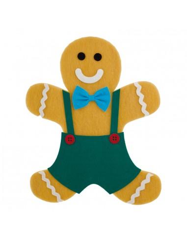 Hombre de jengibre para la decoración navideña de centros comerciales calles tiendas