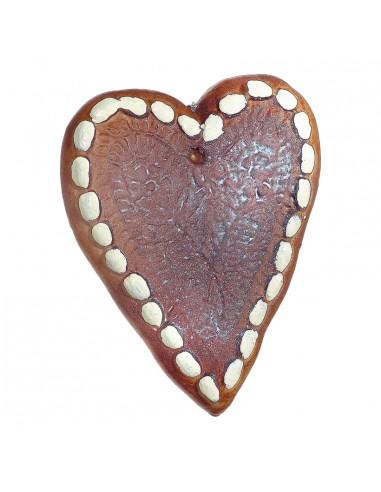 Corazón de pan de jengibre para la decoración navideña de centros comerciales calles tiendas