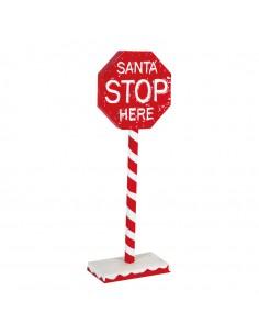 Señal de stop decorativa para la decoración navideña de centros comerciales calles tiendas