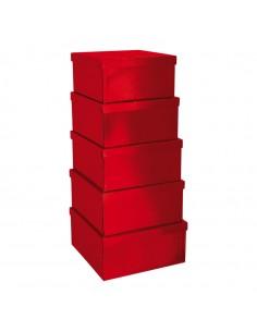 Caja rectangular de regalo para la decoración de árboles de navidad