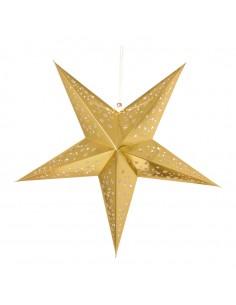 Estrella decorativa de papel para la decoración de centros comerciales calles y tiendas
