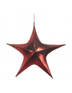 Estrella textil decorativa para la decoración de centros comerciales calles y tiendas
