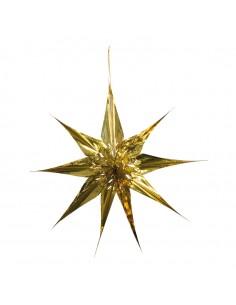 Flor de pascua de papel metálico para la decoración navideña de centros comerciales calles tiendas