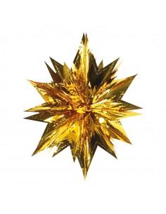 Estrella de papel metálico para la decoración de centros comerciales calles y tiendas
