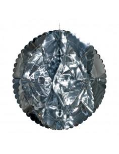 Bola de papel de aluminio para la decoración navideña de centros comerciales calles tiendas