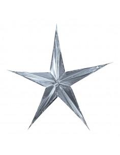 Estrella de papel metálico para la decoración navideña de centros comerciales calles tiendas