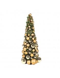 Árbol de navidad con luz LED y bolas para la decoración de navidad con bolas y accesorios