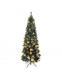 Árbol de navidad decorado con bolas para la decoración de navidad con bolas y accesorios