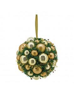Esfera de abeto con bolas para la decoración navideña de centros comerciales calles tiendas