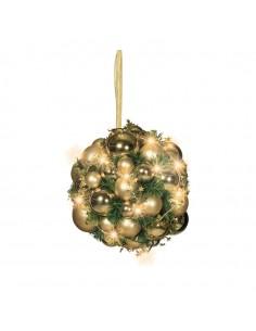 Esfera de abeto con luz LED y bolas para la decoración navideña de centros comerciales calles tiendas