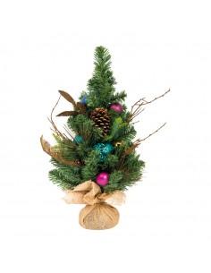 Árbol de navidad decorado con mix de bolas para la decoración de navidad con bolas y accesorios
