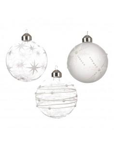 Bolas de cristal navidad para la decoración árboles navideños para tiendas y centros comerciales