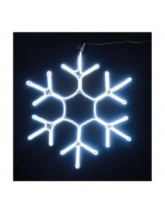 Copo de nieve de neón LED para la decoración en navidad fachadas calles centros comerciales tiendas