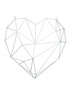 Contorno corazón de metal con ojales para la decoración de espacios en hoteles y escaparates en tiendas