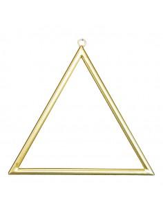 Marco de metal triangular para decorar para la decoración de espacios en hoteles y escaparates en tiendas