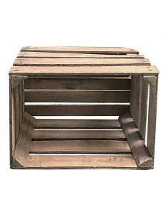Caja de fruta de madera para la decoración de espacios y escaparates e interior de tiendas