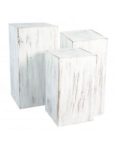 Pedestal de madera para la decoración de espacios y escaparates e interior de tiendas