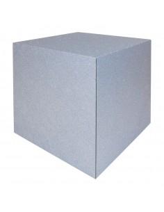 Cubo acabado cemento para la decoración de espacios y escaparates e interior de tiendas