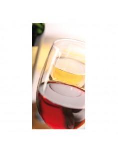 Banner-foto copas de vino para la decoración del fondo decorativo en los escaparates de tiendas