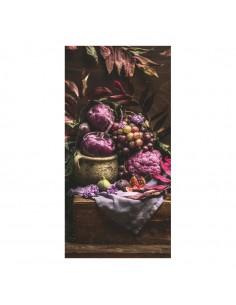 Banner-foto tema vinicola con racimos de uvas para la decoración del fondo decorativo en los escaparates de tiendas
